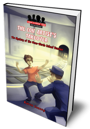 The Con Artist's Takeover Book for Middle School Readers. Find it in a good children's bookshop