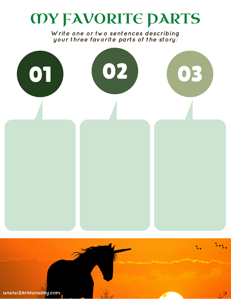 Download a free multi-page book report template for a 3-5th grade fantasy story